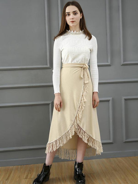 Lovely Asymmetry Bandage Skirt Bottoms
