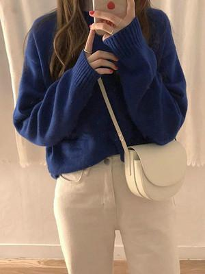 Princess Kniting Blue Sweater