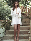 Romantic Blends Beach Vacation Long Sleeve Mask Cover-ups