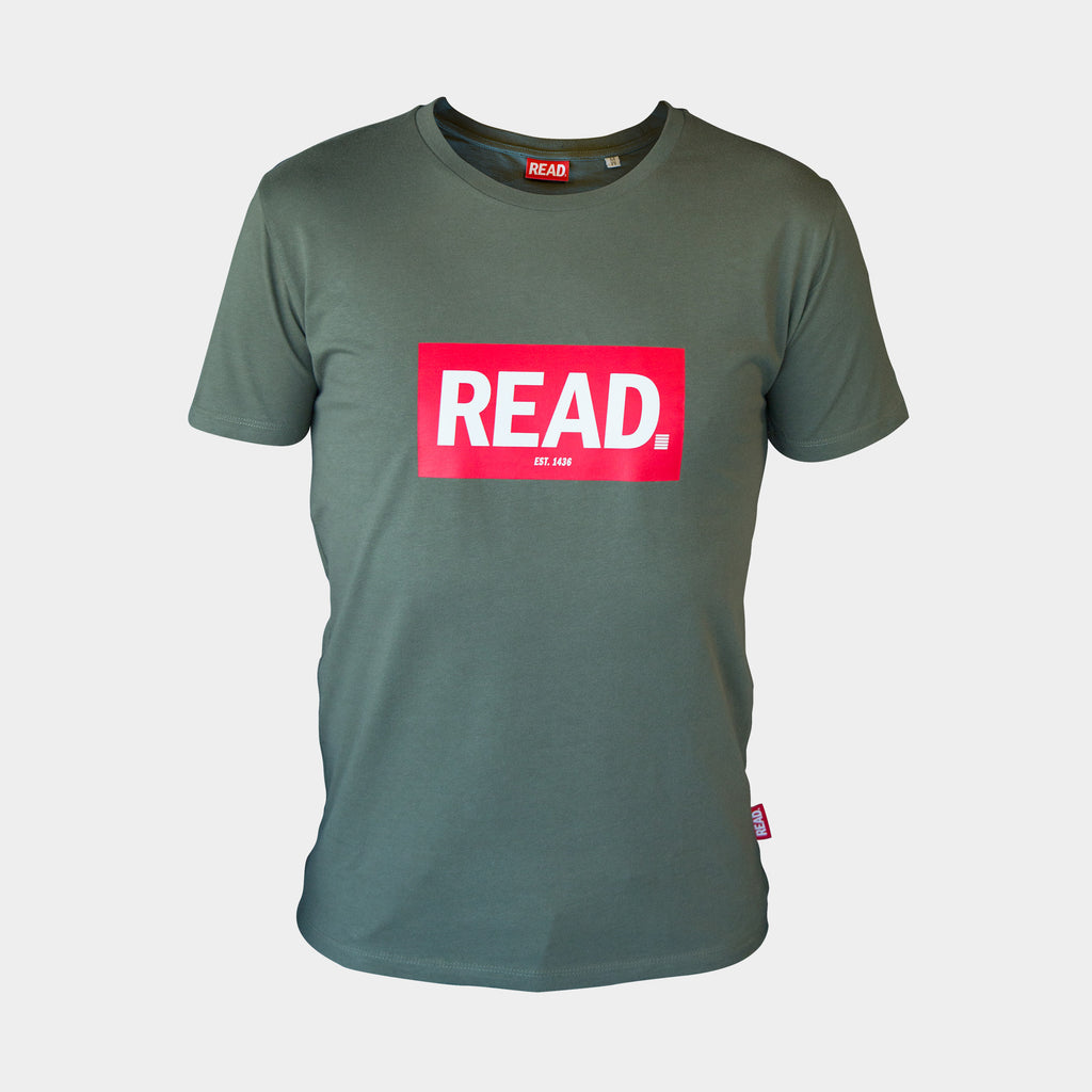 READ T-Shirt Kaki - GetREAD.nl
