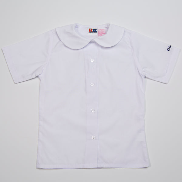 WHITE PETER PAN SHIRT WITH LOGO