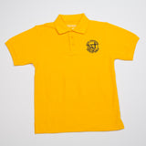 GOLD POLO WITH LOGO