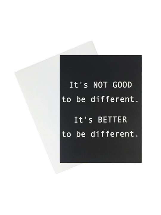 It's Better To Be Different