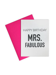 Happy Birthday Mrs. Fabulous