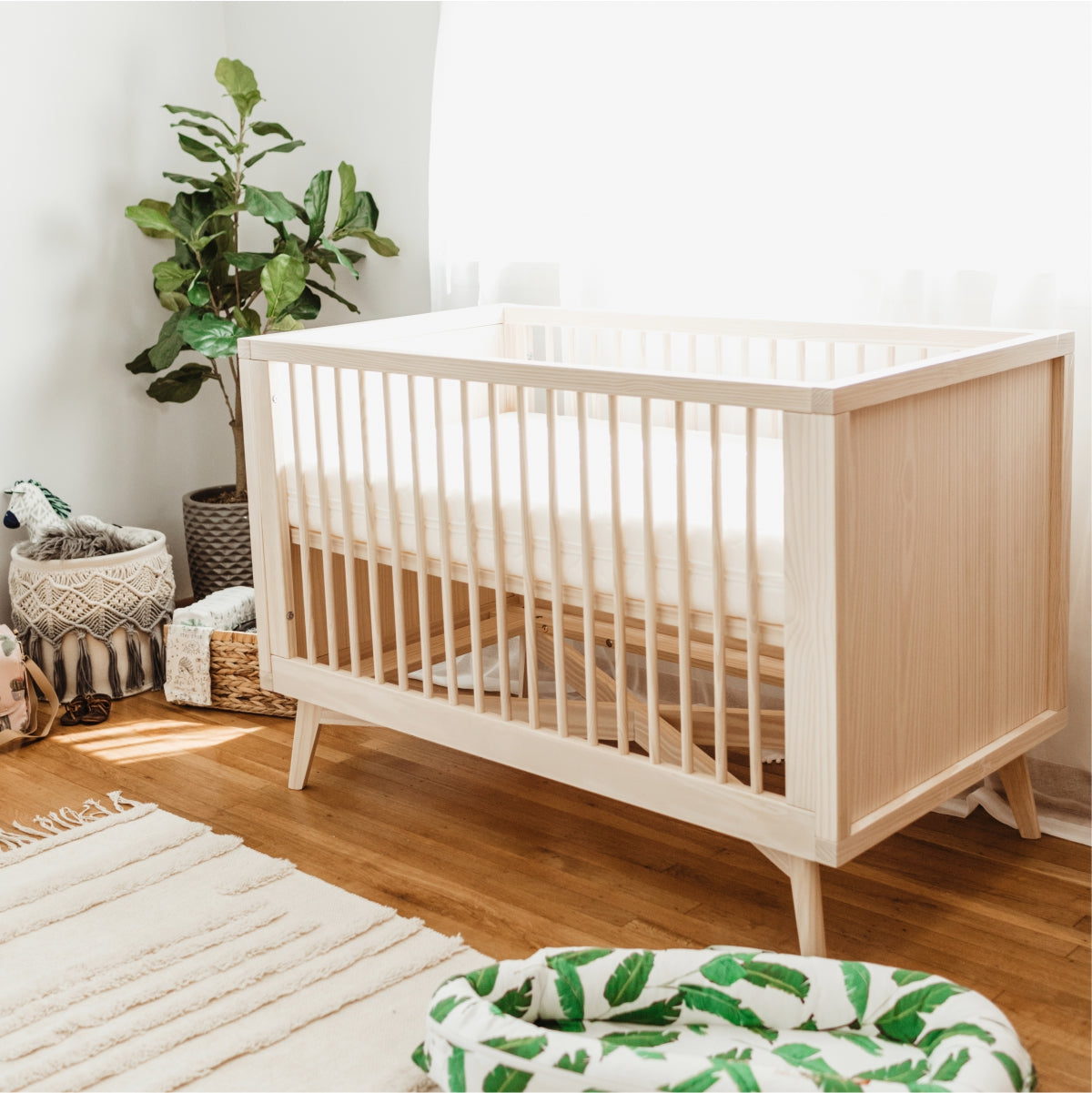 Solid Wood Convertible Crib Sustainable Eco Baby Cribs