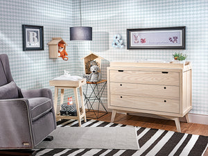 Retro Natural Wood Baby Dresser