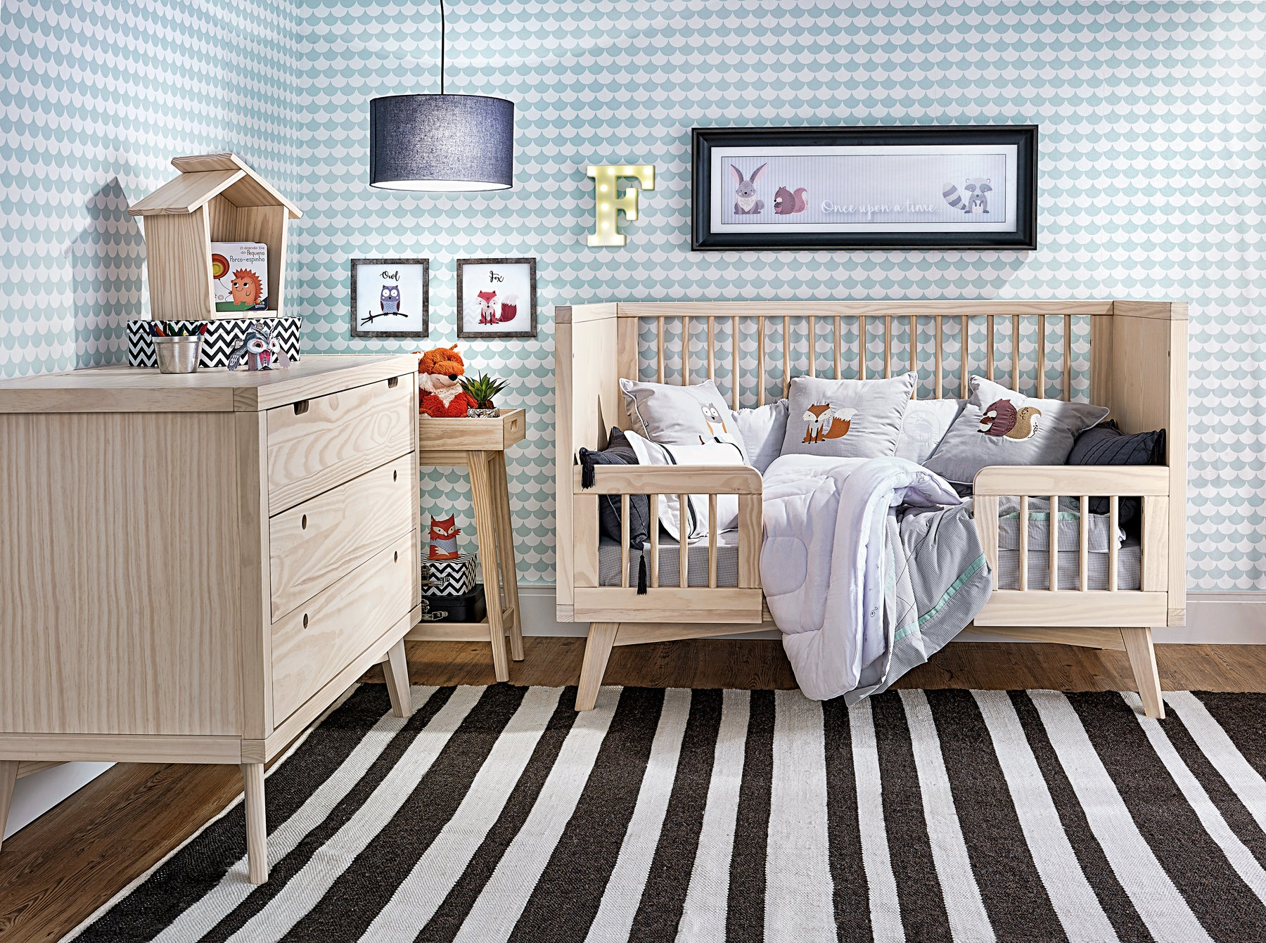 Simply Nursery Retro Conversion Kit  Modern Wood Baby Furniture