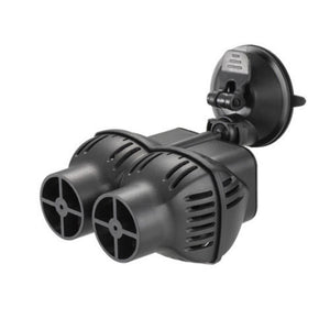 a glossy black twin outlet wave maker with a large clip release suction cap