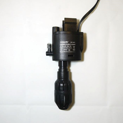 an aquarium water pump with sucker attachments