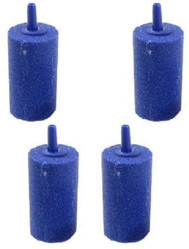 4 blue cylinder air stones