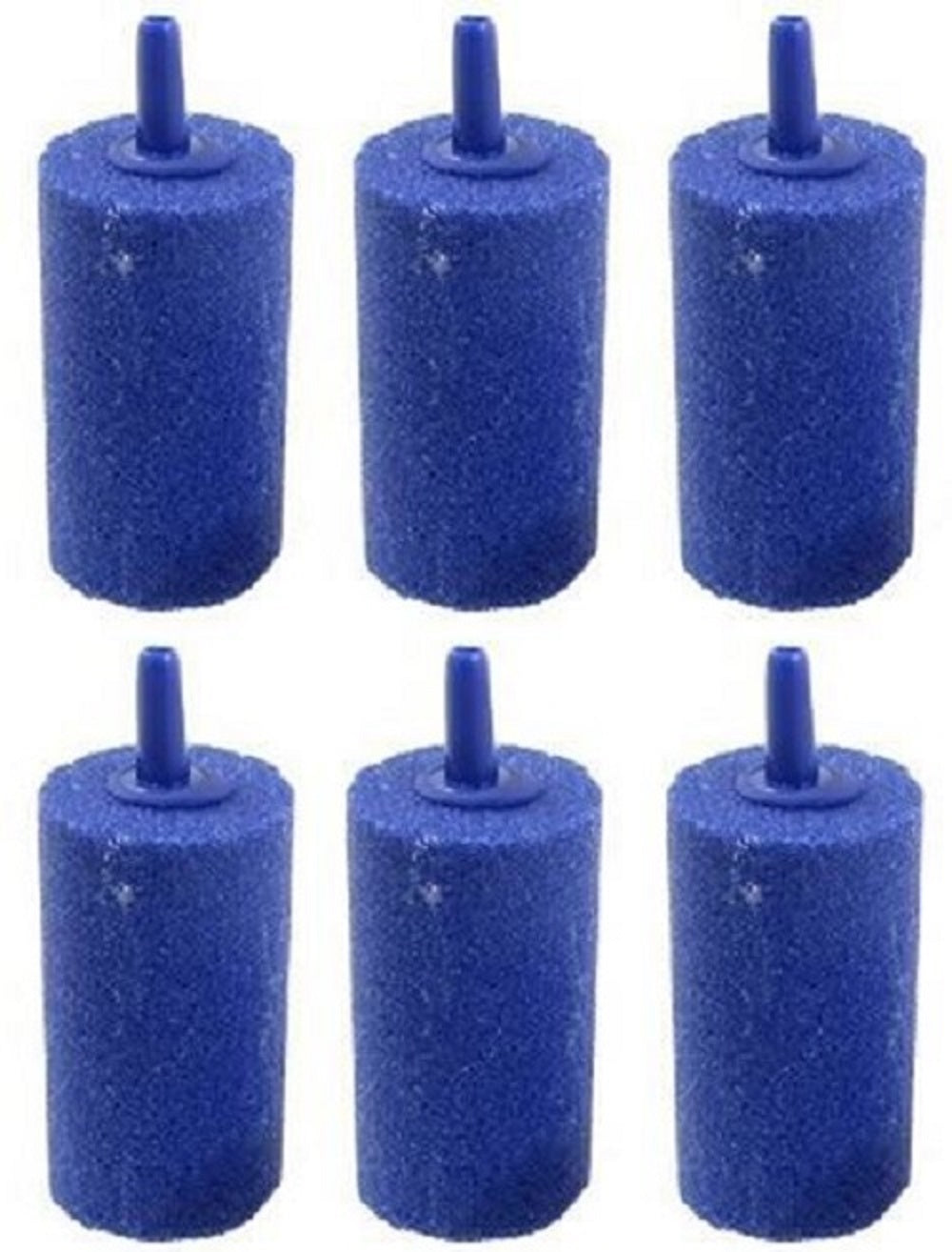 6 blue cylinder air stones