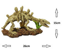 Fish Tank Aquarium Ornament Feature - Stegosauros Dinosaur Skeleton