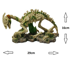 Fish Tank Aquarium Ornament Feature - Parasaurolophus Dinosaur Skeleton