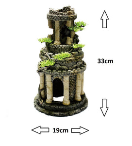 Fish Tank Aquarium Ornament Feature - Roman Pillared Tower