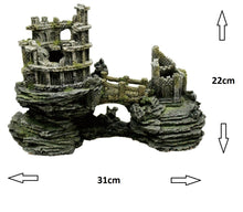 Fish Tank Aquarium Ornament Feature - Ancient Ruins linked with a Bridge