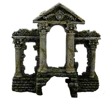 Ancient roman temple with pillared columns