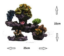 Fish Tank Aquarium Ornament Feature - Coral Reef Rocks and Polyps