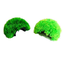 Artificial Aquarium Fish Tank Plant Green Ball Cluster Moss Cave - Medium