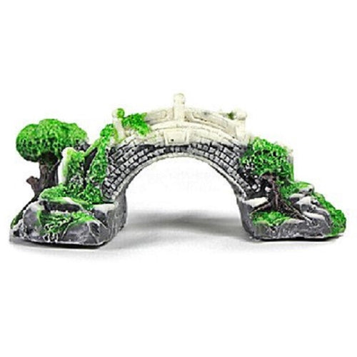 an arched stone bridge aquarium ornament