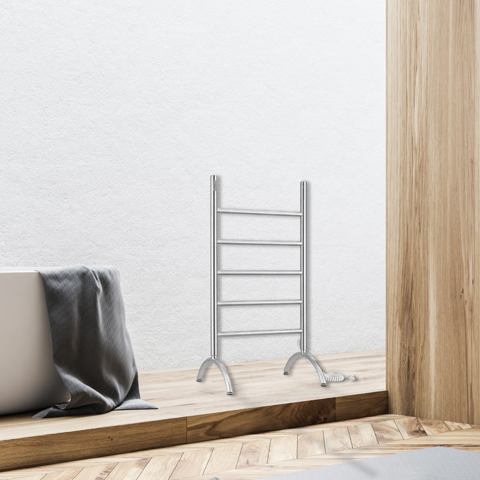 Nova OBT 3 in 1, 5 Bar Towel Warmer with Integrated On-Board Timer in Brushed Stainless Steel