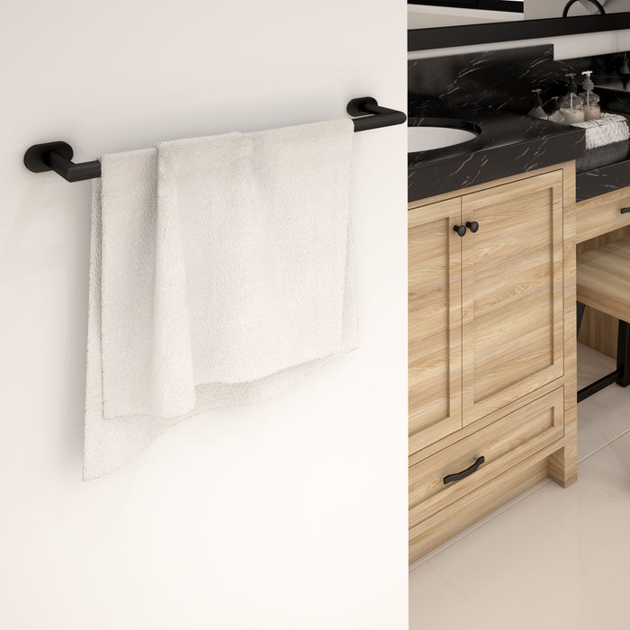 4-piece Bathroom Accessory Set in Matte Black