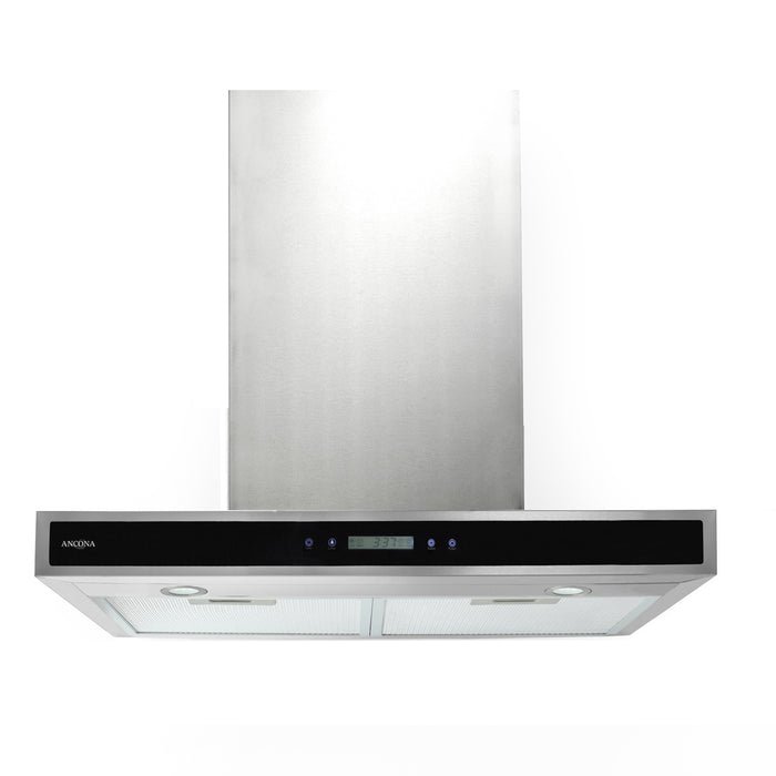 WRP430 30 in. Convertible Wall Mounted Range Hood with LED Lights in Stainless Steel