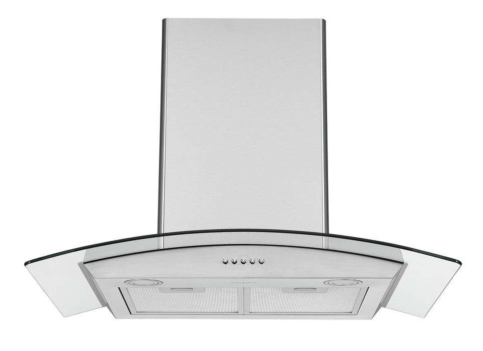 30 in. Convertible Wall-Mounted Glass Canopy Range Hood in Stainless Steel