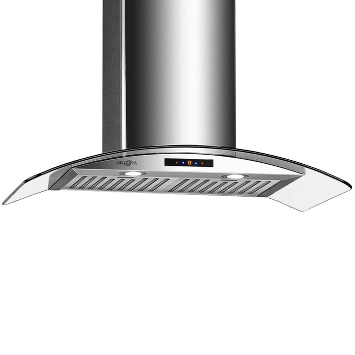 GCC436 36 in. Convertible Wall-Mounted Stainless Steel Range Hood with LED Lights