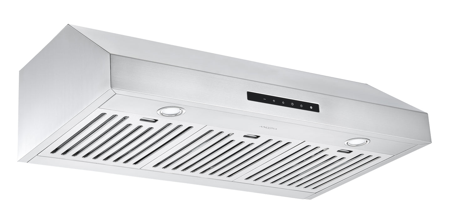 Ancona 36 in. UCT636 Under Cabinet Range Hood with Night Light Feature