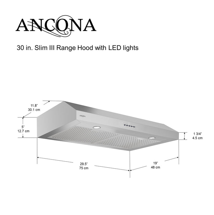 Ancona Slim III 30 in. with LED lights