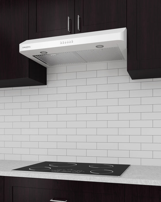 White Slim SP 30 in. Range Hood
