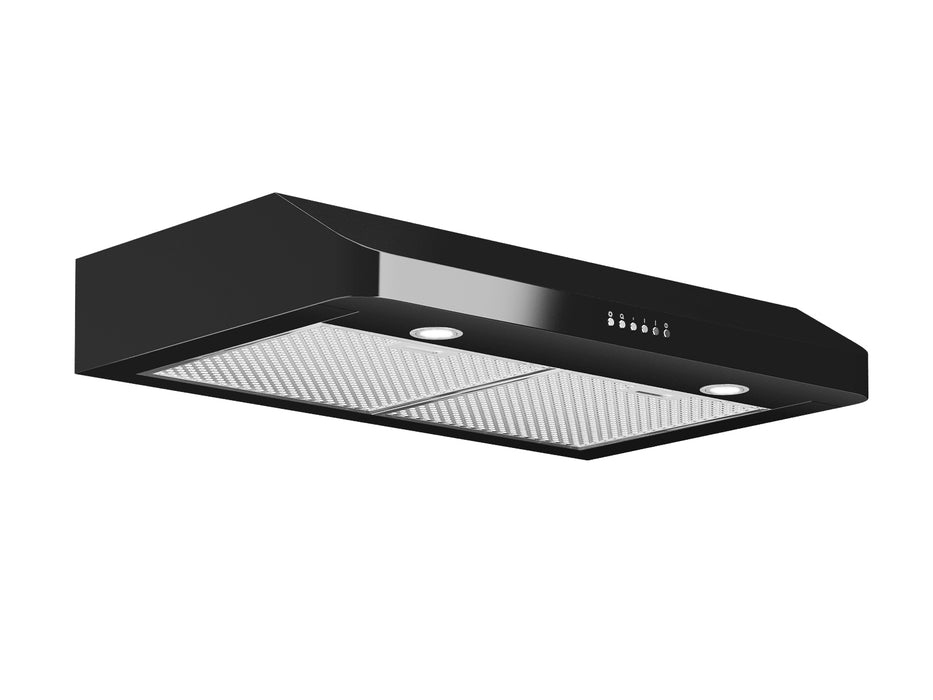 Black Slim SP 30 in. Range Hood with LED Lights