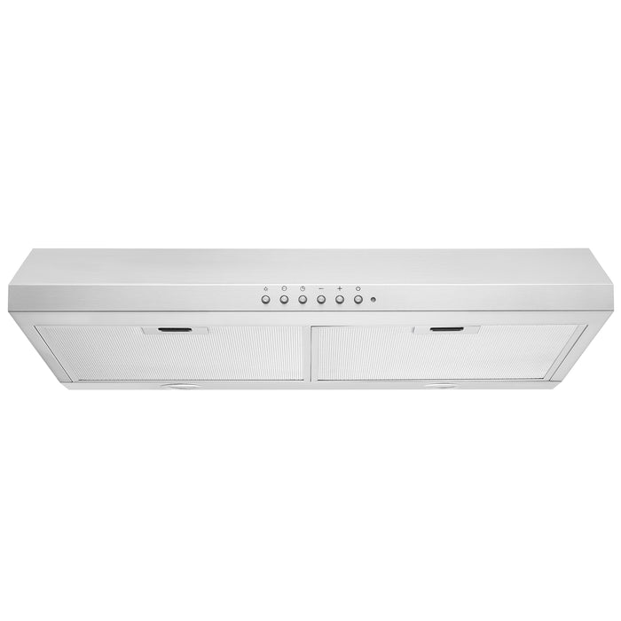 30 in. UC64NL Ducted Under-Cabinet Range Hood in Stainless Steel with Night Light Feature