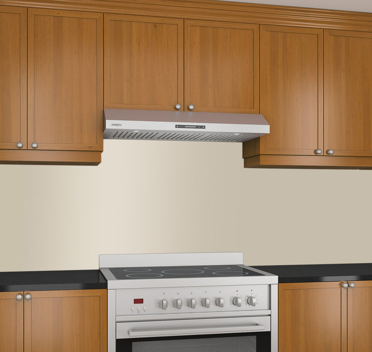 Slim Elite 36 in. with LED Under-Cabinet Range Hood in Stainless Steel