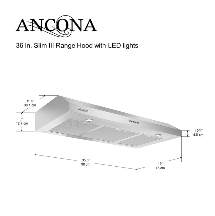 Slim III 36 in. Range Hood
