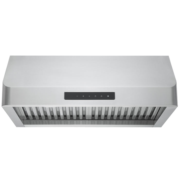 30 in. Pro Series Turbo Undercabinet Range Hood in Stainless Steel with Night Light Feature