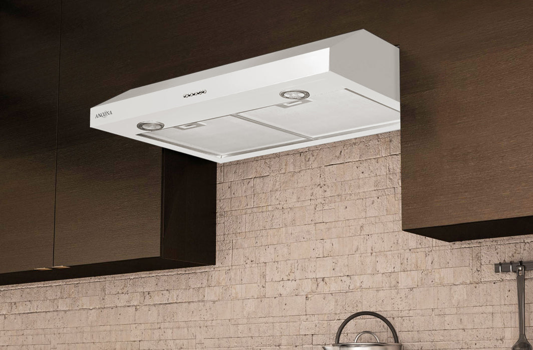 Slim Plus 30 in. Under-Cabinet Range Hood in White