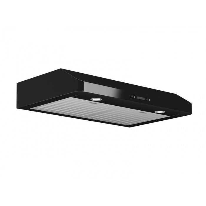 Slim Chef 30 in. Under-Cabinet Range Hood in Black