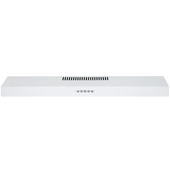 Ancona 30 in. Convertible Under Cabinet Range Hood in White Stainless Steel