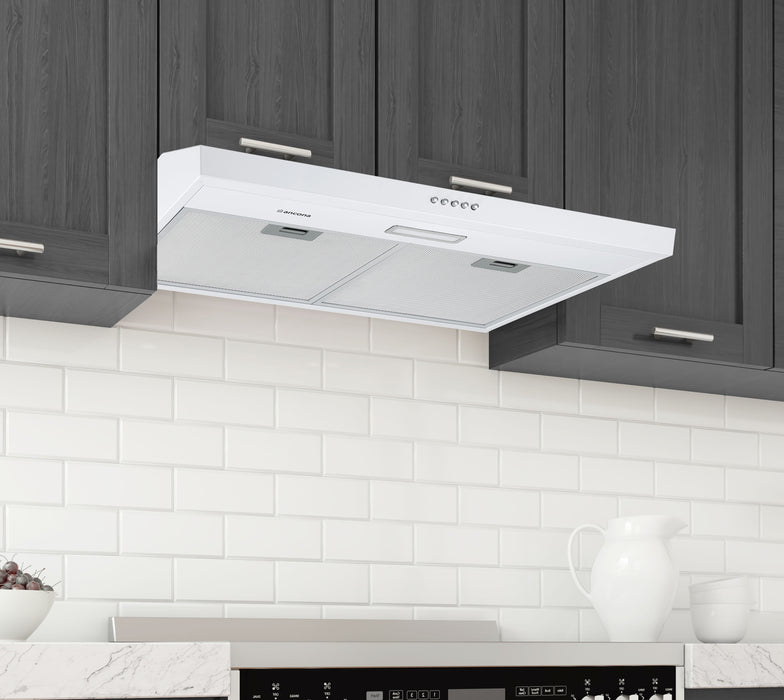 Ancona 30 in. Convertible Under Cabinet Range Hood in White