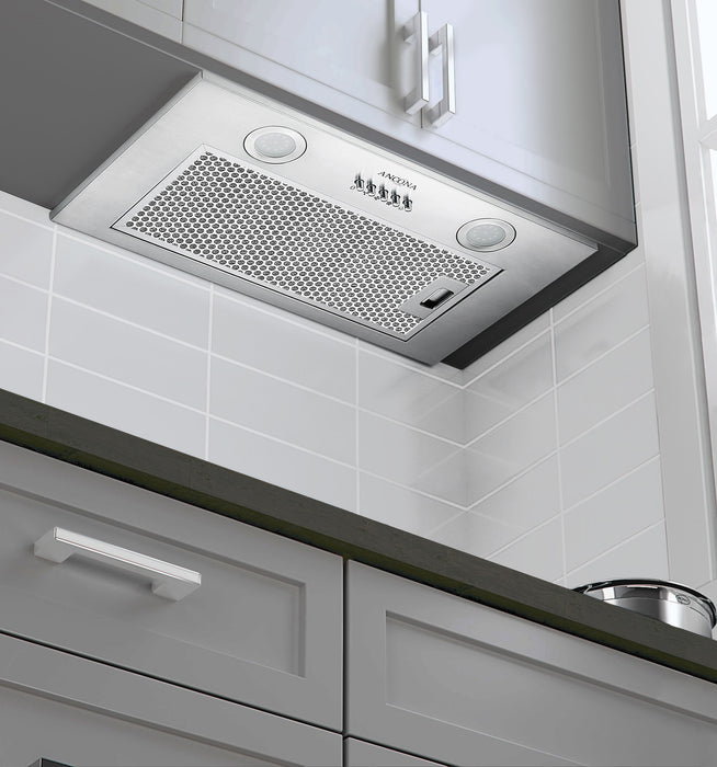 20-in Ducted Stainless Steel Under Cabinet Range Hood Insert