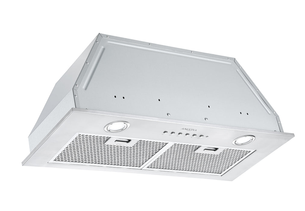Ancona Inserta III 28 in. Built-in Range Hood with Night Light Feature in Stainless Steel
