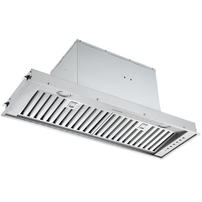 36 in. Inserta Euro Designer Series 650 CFM Ducted Range Hood with Night Light Feature
