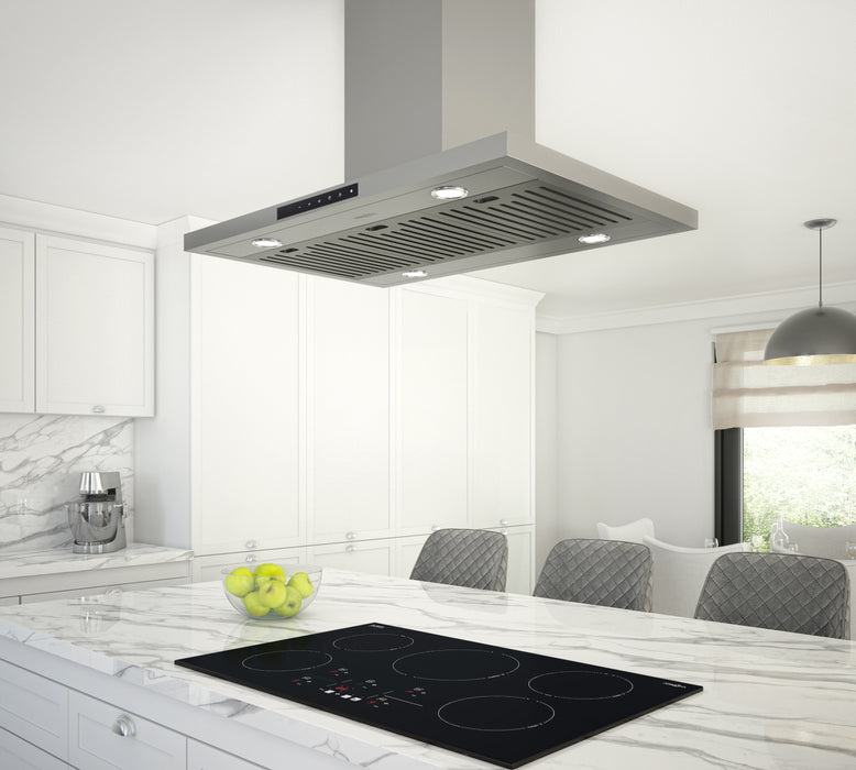 Noturna IR36 36 in. Island Rectangular Range Hood in Stainless Steel with Night Light feature