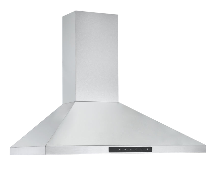 Ancona WPNL630 30 in. Wall Mount Pyramid Range Hood in Stainless Steel with Night Light Feature