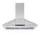 WPNL630 30 in. Wall Mount Pyramid Range Hood in Stainless Steel with Night Light Feature