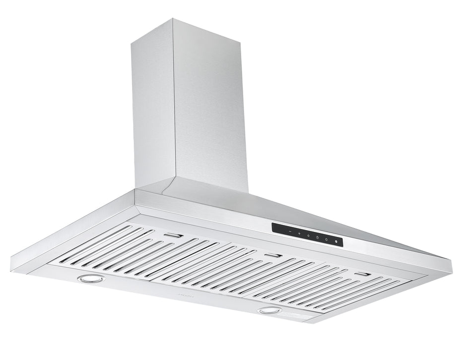WPNL636 36 in. Wall Mount Pyramid Range Hood in Stainless Steel with Night Light Feature