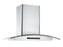 GCL630 30 in. Wall Mount Glass Canopy Range Hood in Stainless Steel with Night Light Feature