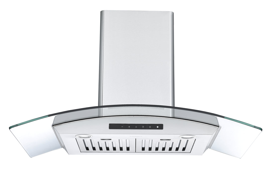 GCL636 36 in. Wall Mount Glass Canopy Range Hood in Stainless Steel with Night Light Feature