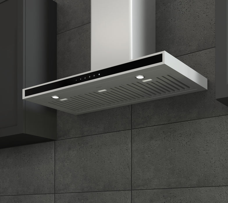 WRC636 36 in. Wall-Mounted Rectangular Range Hood in Stainless Steel with Night Light Feature